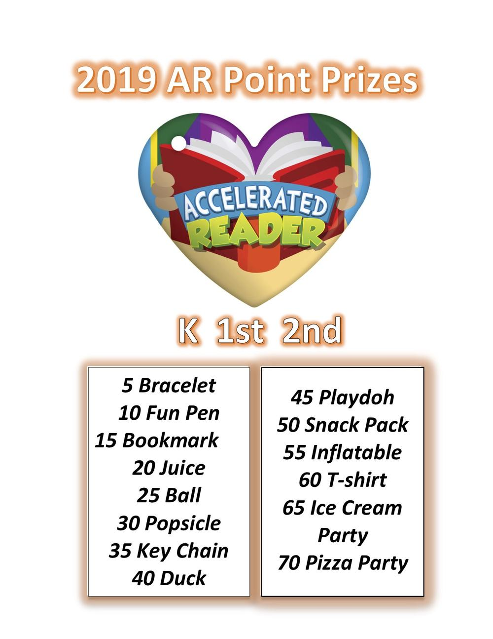 AR Point Prizes K-2